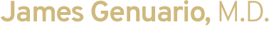 James Genuario, M.D. Board Certified Orthopedic Surgeon logo